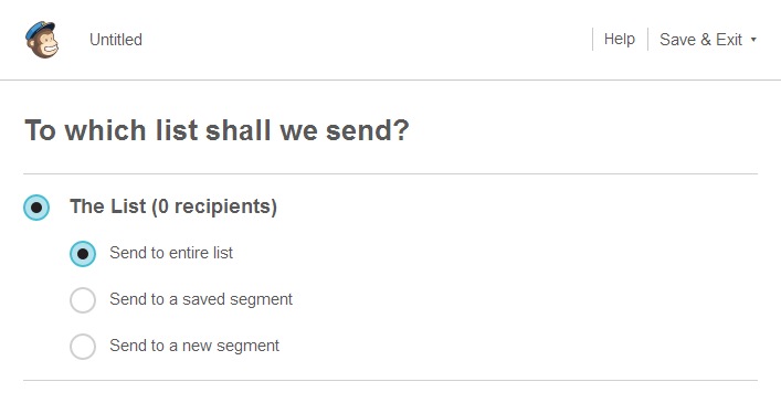 Sending an Email Lists