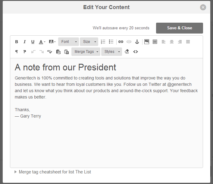 Sending an Email Message