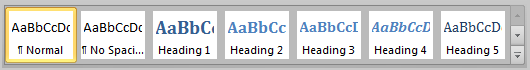 Creating an eBook Headings