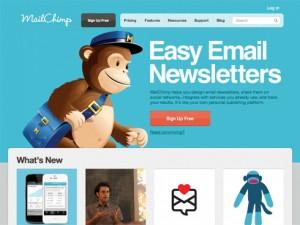 MailChimp landing page