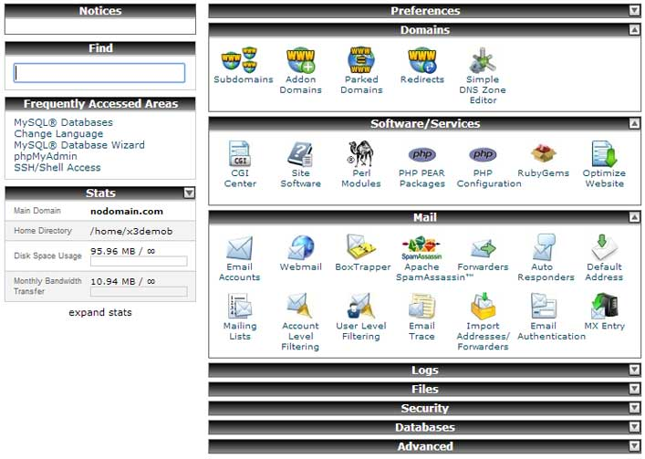 Control Panel Software