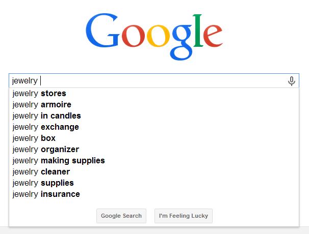Keywords Google Search Suggest